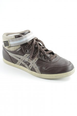Asics Lace-Up Sneaker brown-light brown casual look