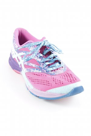 Asics Lace-Up Sneaker pink-purple mixed pattern athletic style