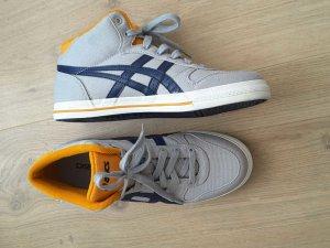 Asics Sneakers gr 41.5 grau orange blau