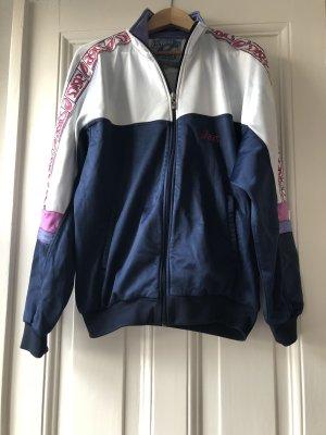 Asics Sportjacke Zipper Jacke Trainingsjacke Vintage Blau Pink 52 xl Label