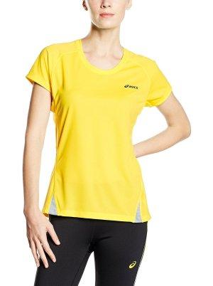 Asics T-Shirt Sport Sportshirt Damen Gr M 38 gelb Running Top