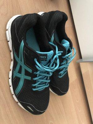 Asics Sneaker nero-azzurro