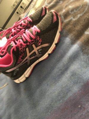 Asics Sneaker nero-rosa