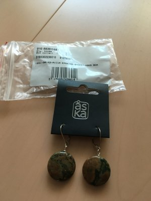 ASKA ÅSKA Ohrringe, Ohrhänger, Echtstein, NEU mit Etikett in OVP mit gratis  Armband