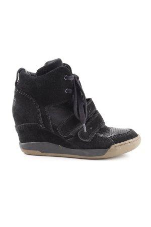 asn Wedge Sneaker schwarz extravaganter Stil
