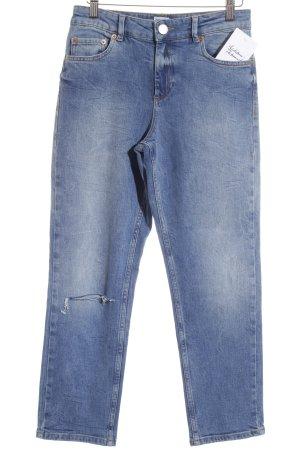 Asos 7/8 Jeans stahlblau Bleached-Optik