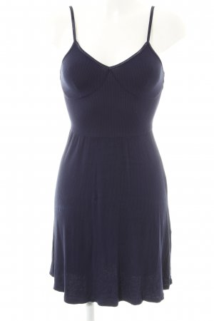 Asos A-lijn jurk donkerblauw casual uitstraling
