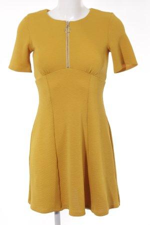 Asos A-Linien Kleid goldorange Punktemuster Casual-Look
