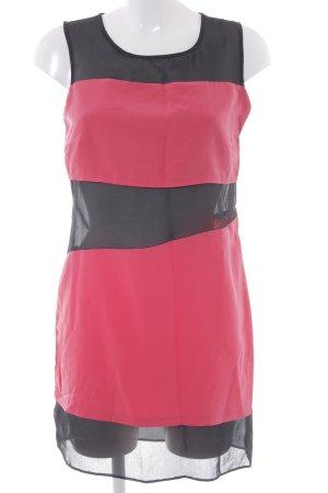 Asos A-Linien Kleid schwarz-hellrot Streifenmuster Party-Look