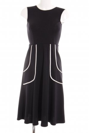 Asos A-Linien Kleid schwarz-weiß Casual-Look