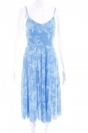 Asos A-Linien Kleid weiß-kornblumenblau florales Muster klassischer Stil