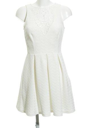 Asos A-Linien Kleid wollweiß Karomuster Casual-Look