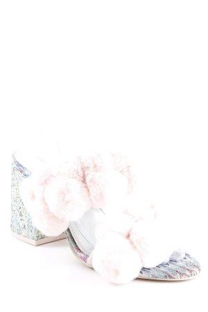 Asos Heel Pantolettes multicolored glittery