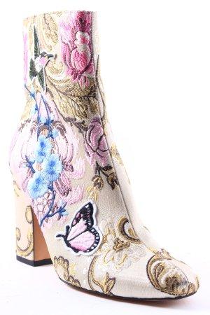 Asos Absatz Stiefel florales Muster Boho-Look