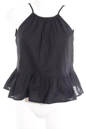 Asos ärmellose Bluse schwarz Casual-Look