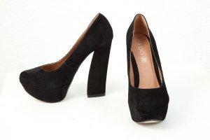 ASOS ALDO Pumps High Heels schwarz Wildleder Echtleder Größe 39