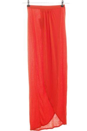 Asos Asymmetry Skirt red casual look