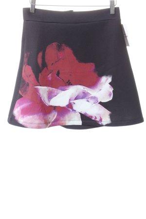 Asos Asymmetrie-Rock schwarz-magenta florales Muster Boho-Look