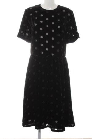 Asos Babydoll Dress black spot pattern '60s style