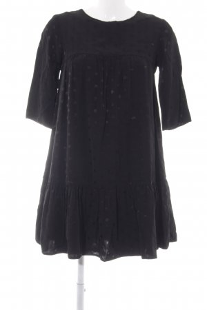 Asos Vestido babydoll negro estampado a lunares elegante