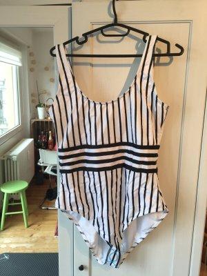 Asos Swimsuit white-black polyamide