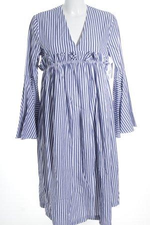 Asos Balloon Dress cornflower blue-natural white cotton