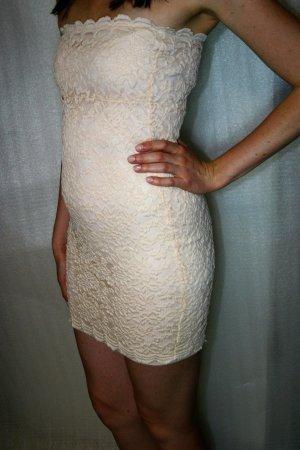 ASOS Bandeau Kleid Spitzenkleid rosa beige gebraucht Gr.38 Neupreis 39,95€