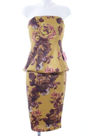 Asos Vestido bandeau estampado floral elegante
