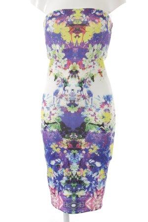 Asos Robe bandeau motif floral élégant