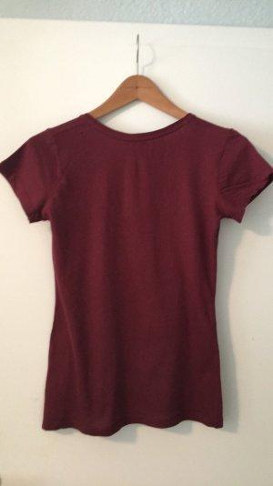 Asos Basic Shirt dunkelrot