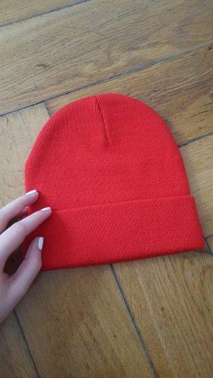 Asos Bonnet rouge-rouge fluo