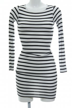 Asos Pencil Dress black-white striped pattern casual look