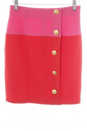 Asos Bleistiftrock rot-pink Farbverlauf Casual-Look