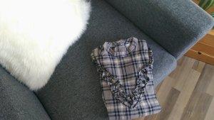 ASOS Bluse mit Karomuster und Rüschen, Flanelhemd