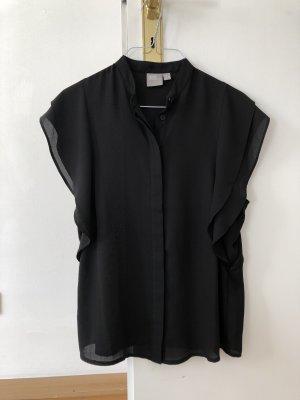Asos Bluse Shirt schwarz 36 S transparent neu