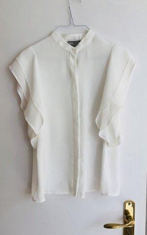 Asos Bluse weiß transparent 36 S neu