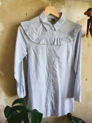 Asos Robe courte blanc-bleu azur
