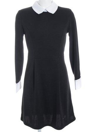 Asos Blusenkleid schwarz-weiß Business-Look