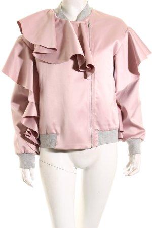 Asos Blouson aviateur vieux rose-gris clair style romantique