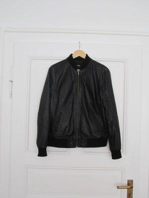ASOS Bomberjacke aus Leder *schwarz*