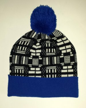 Asos Bobble Hat black-blue