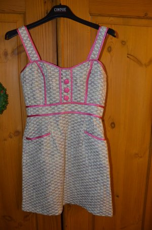 Asos Bouclé Kleid pink/weiß 60er Jahre Gr. 36 NEU