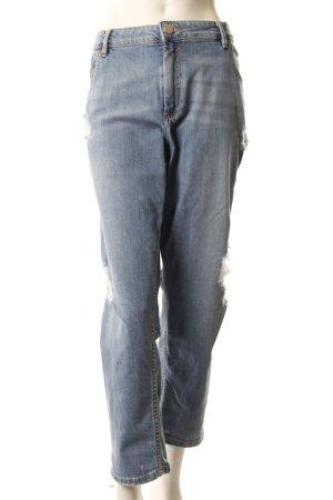 Asos Boyfriend Jeans destroyed hellblau