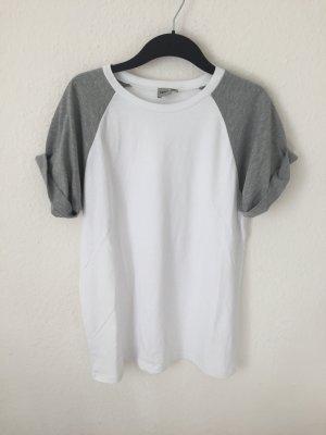 Asos Boyfriend Shirt Grau Weiß