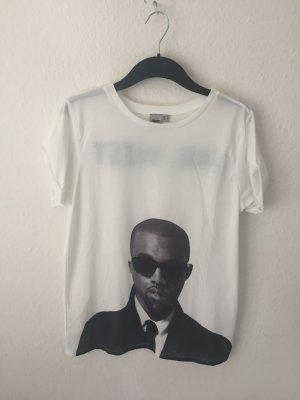 Asos Oversized Shirt white-black polyester