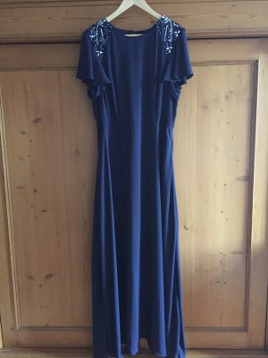 ASOS Brautjungfern Umstands Mama Abendkleid Blau Navy Marine 44