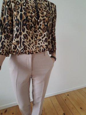 Asos Büro Hose XXS XS 32 34 nude Stoffhose Anzughose Bundfaltenhose Röhre Chino