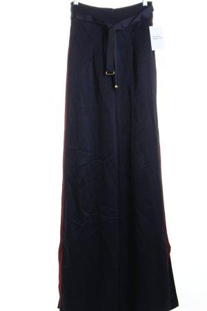 Asos Bundfaltenhose dunkelblau-dunkelrot Eleganz-Look