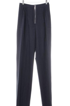 Asos Pantalon à pinces bleu foncé-blanc rayure fine style d'affaires