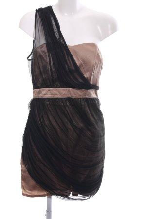 Asos Bustierjurk zwart-brons zakelijke stijl